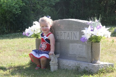 olivia with sartain grave